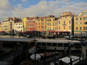 View from our room of the San Polo sestiere across the Grand Canal