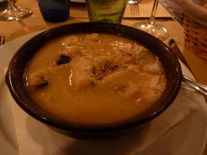 Chickpea soup from Osteria del Porcellino
