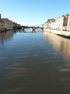 The Arno River west of the Ponte Vecchio