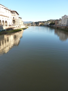 The Arno River east of the Ponte Vecchio