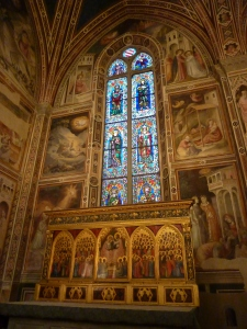 "Basilica di Santa Croce - Baroncelli Chapel - Taddeo Gaddi frescoes - ""Stories of the Virgin"""