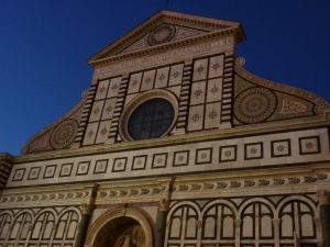 Detail of the facade of Santa Maria Novella