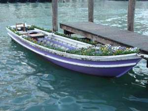 San Polo - Everything is delivered by boat, including flowers!