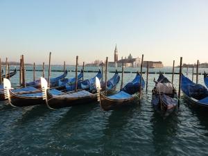 Gondolas near the Doge's Palace
