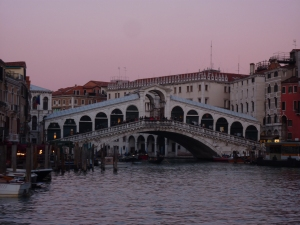 Rialto Bridge at sunset
