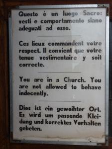 San Giorgio Maggiore - I love these words of warning!