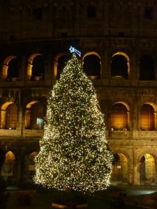 Colosseum Christmas tree