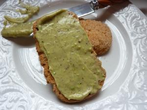 Pistachio cream on biscottone