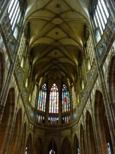 Prague Castle - inside St. Vitus Cathedral