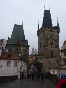 West end of the Charles Bridge