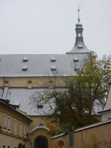 A church in the snow