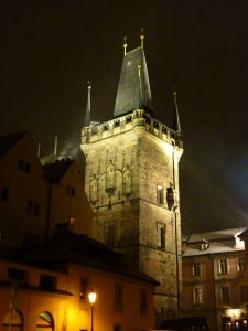 Tower on the west side of the Charles Bridge