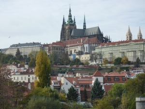 All of the buildings on the top of the hill are part of Prague Castle