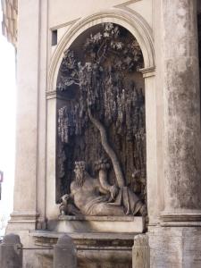 Quattro Fontane - River Tiber (southwest corner)