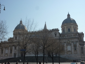 My favorite view of the basilica - from the back