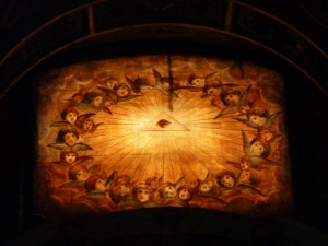 Art in the baptistery - I don't know what it is, but it's beautiful!