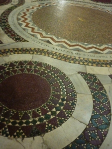 Cosmatesque floor (dates from 1288)