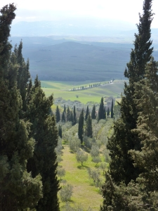 View of the Val d'Orcia from the Piccolomini Palace in Pienza