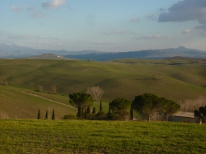 Driving through Val d'Orcia