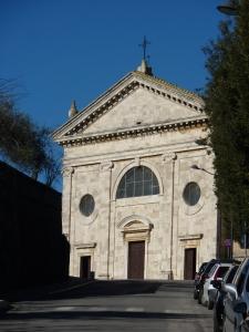 Madonna del Soccorso church in Montalcino (built in 1330)