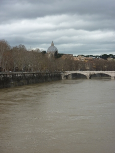 Tuesday, March 12, 2013 - St. Peter's and the River Tevere from the Ponte Sisto bridge