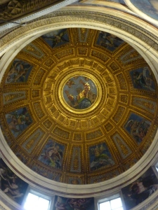 Dome - designed by Raphael; frescos by Francesco Salviati (1554 and 1557); mosaic by Luigi de Pace (1516