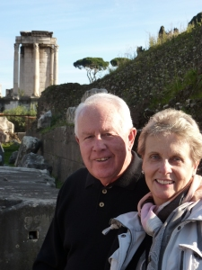 I loved this photo of my friends Ed and Nikki near the Temple of Vesta, and I wanted them to use it for their Christmas card photo - but they didn't. Don't you think they should have?