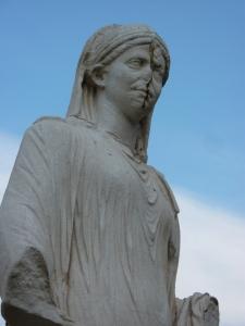 A statue in the Casa delle Vestali