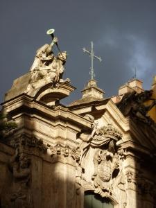 Sant'Antonio dei Portoghesi - exterior on a stormy day