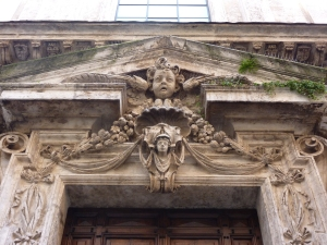 Sant'Antonio dei Portoghesi - detail above the entrance