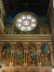 St. Paul's within the Walls - rear wall with Breck's mosaics