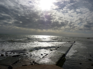 Beach at Anzio in winter
