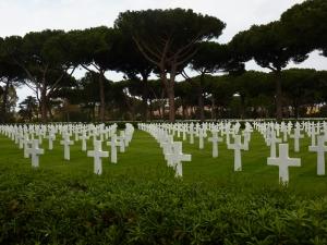 American cemetery headstones