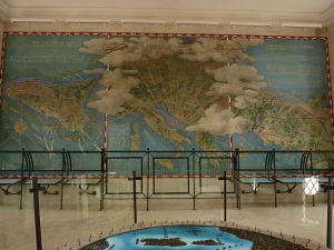 American cemetery memorial - map room
