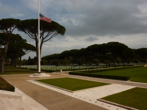 American cemetery - looking left from the memorial
