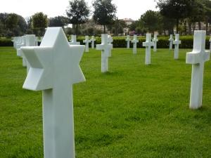American cemetery - headstones