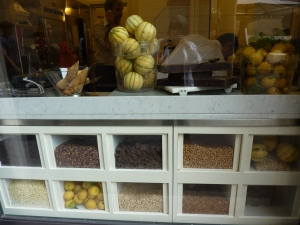 The window but no one was making gelato when I was there this afternoon