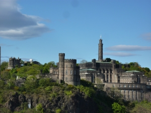 Calton Hill from the North Bridge between the Old Town and the New Town