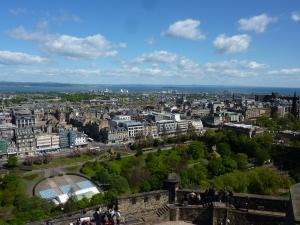 New Town from Edinburgh Castle