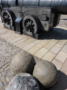 Mons Meg's 330-pound gun stones