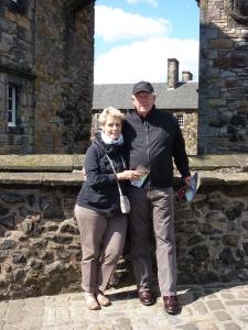 Ed and Nikki at Edinburgh Castle