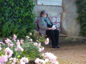 Villa Cimbrone - resting in the rose garden