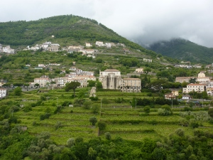 Looking up the mountain from Ravello