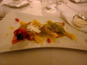 Fifth course: Caramelle ravioli