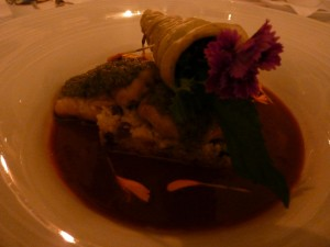 Sixth course: red sea bream filet