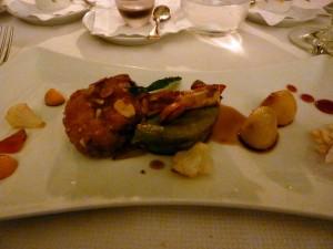 Seventh course: lamb chop