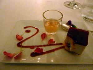 Eighth course: panna cotta