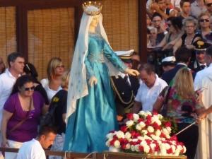 Madonna captured by a sunbeam