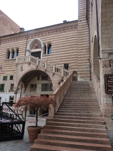 The only remaining Renaissance staircase in Verona