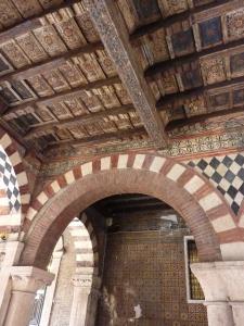 Frescoed passageway near the Scaligeri Tombs